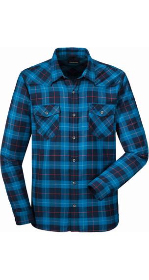 Schöffel Miesbach overhemd en blouse lange mouwen Heren blauw